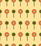 Teste padrão sem emenda do pirulito redondo colorido dos doces ilustração stock