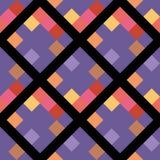 Teste padrão sem emenda do pixel geométrico ultravioleta do rombo da cor ilustração stock