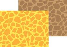 Teste padrão sem emenda do polígono do girafa Fotos de Stock