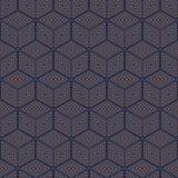 Teste padrão sem emenda do polígono geométrico Projeto gráfico da forma Ilustração do vetor Projeto do fundo Ilusão ótica 3D Esti Imagens de Stock Royalty Free