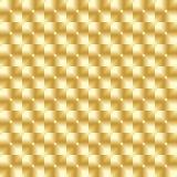 Teste padrão sem emenda do ponto quadrado dourado luxuoso Imagens de Stock Royalty Free