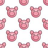 Teste padrão sem emenda do porco ilustração stock