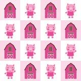 Teste padrão sem emenda do porco ilustração do vetor