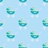 Teste padrão sem emenda do pram do bebê Imagens de Stock Royalty Free