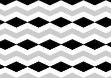 Teste padrão sem emenda do preto do diamante de Chevron, o cinzento e o branco Fotos de Stock Royalty Free