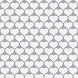 Teste padrão sem emenda do projeto do coração para o fundo do dia de Valentim Fotos de Stock Royalty Free
