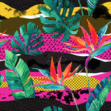 Teste padrão sem emenda do projeto tropical abstrato do verão ilustração royalty free