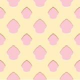 Teste padrão sem emenda do queque cor-de-rosa abstrato Imagens de Stock Royalty Free