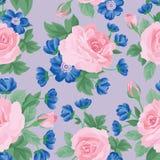 Teste padrão sem emenda do ramalhete floral Fundo cor-de-rosa da flor ilustração stock
