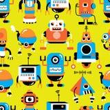 Teste padrão sem emenda do robô Fotografia de Stock Royalty Free