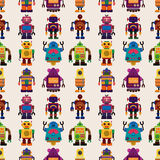 Teste padrão sem emenda do robô Foto de Stock