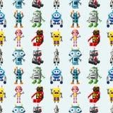 Teste padrão sem emenda do robô Fotografia de Stock