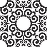 Teste padrão sem emenda do rolo do vetor para o projeto de matéria têxtil Fotografia de Stock Royalty Free