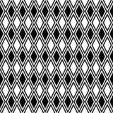 Teste padrão sem emenda do rombo do vetor Textura geométrica Fundo preto e branco Projeto romboidal monocromático ilustração royalty free