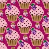 Teste padrão sem emenda do rosa de creme do bolo Foto de Stock Royalty Free
