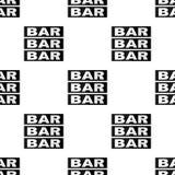 Teste padrão sem emenda do símbolo liso da barra do casino Imagens de Stock