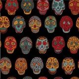 Teste padrão sem emenda do Scull mexicano Imagem de Stock