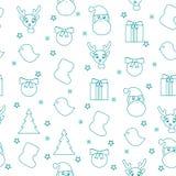 Teste padrão sem emenda do simbol do Natal Imagens de Stock