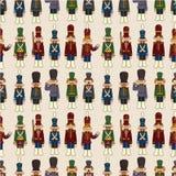 Teste padrão sem emenda do soldado de brinquedo dos desenhos animados Imagens de Stock Royalty Free