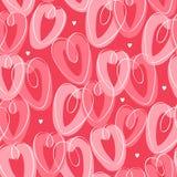 Teste padrão sem emenda do St Valentine's com corações Fotografia de Stock Royalty Free