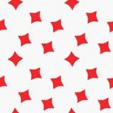 Teste padrão sem emenda do terno dos diamantes dos cartões de jogo Fotografia de Stock Royalty Free