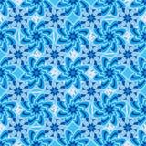 Teste padrão sem emenda do teste padrão summetry azul da flor Fotos de Stock Royalty Free