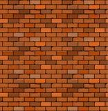 Teste padrão sem emenda do tijolo vermelho com quebras e irregularidades Fotos de Stock Royalty Free
