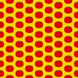 Teste padrão sem emenda do tomate Fotos de Stock