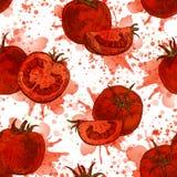 Teste padrão sem emenda do tomate Fundo do vetor Imagens de Stock