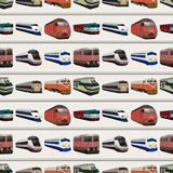 Teste padrão sem emenda do trem Imagem de Stock