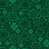 Teste padrão sem emenda do trevo verde Foto de Stock