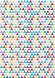 Teste padrão sem emenda do triângulo Imagens de Stock Royalty Free