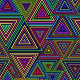 Teste padrão sem emenda do triângulo ilustração royalty free