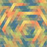 Teste padrão sem emenda do triângulo, fundo, textura ilustração stock