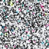 Teste padrão sem emenda do triângulo urbano com efeito do grunge ilustração stock