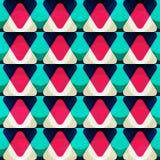 Teste padrão sem emenda do triângulo vermelho do vintage Fotos de Stock