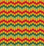 Teste padrão sem emenda do tricoteiro com listras e ziguezague Textura colorida, fundo do vetor ilustração royalty free