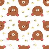Teste padrão sem emenda do urso Imagens de Stock