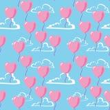 Teste padrão sem emenda do Valentim ilustração do vetor