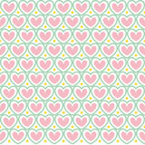 Teste padrão sem emenda do Valentim bonito com corações Fotos de Stock Royalty Free