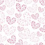 Teste padrão sem emenda do Valentim bonito com corações Ilustração Stock