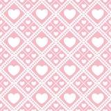 Teste padrão sem emenda do Valentim bonito com corações Ilustração do Vetor