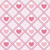 Teste padrão sem emenda do Valentim bonito com corações Ilustração Royalty Free