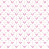 Teste padrão sem emenda do Valentim bonito com corações Fotografia de Stock Royalty Free