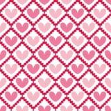 Teste padrão sem emenda do Valentim bonito com corações Imagens de Stock Royalty Free