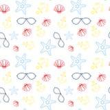 Teste padrão sem emenda do verão com estilo tropical colorido do fundo do ornamento ilustração royalty free