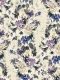 Teste padrão sem emenda do verão com flores da aquarela Foto de Stock