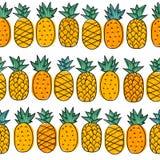 Teste padrão sem emenda do verão com o abacaxi tropico para adolescentes ilustração do vetor