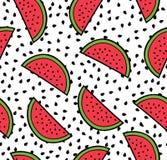 Teste padrão sem emenda do verão da melancia Fotos de Stock