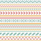 Teste padrão sem emenda do vetor étnico do ornamento Fotos de Stock